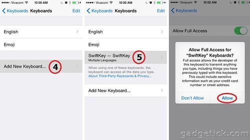 установить клавиатуру на iOS 8