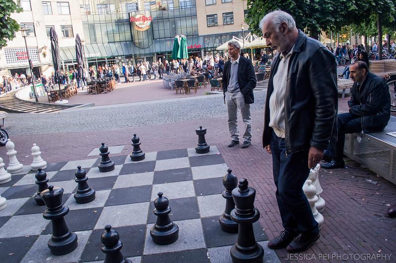 Giant Chess Board Amsterdam