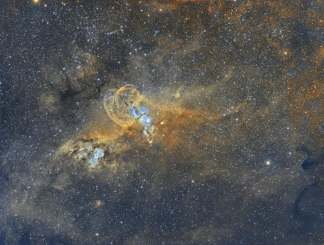 NGC 3576 - The Statue Of Liberty Nebula