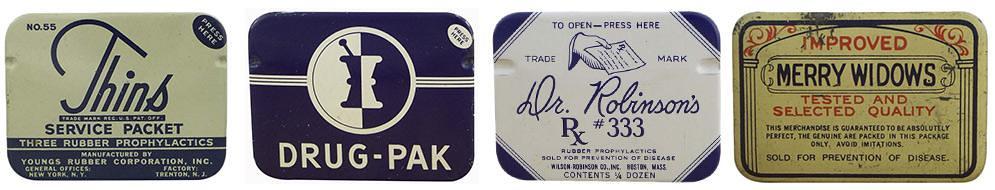 仕女、裸女肖像營造優雅形象 1910 到 1950 年的復古保險套包裝22