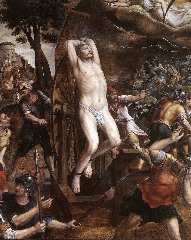 The Torture of St George, by Michiel Coxie