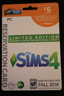 Walmart Pre-Order Program Card (The Sims 4)