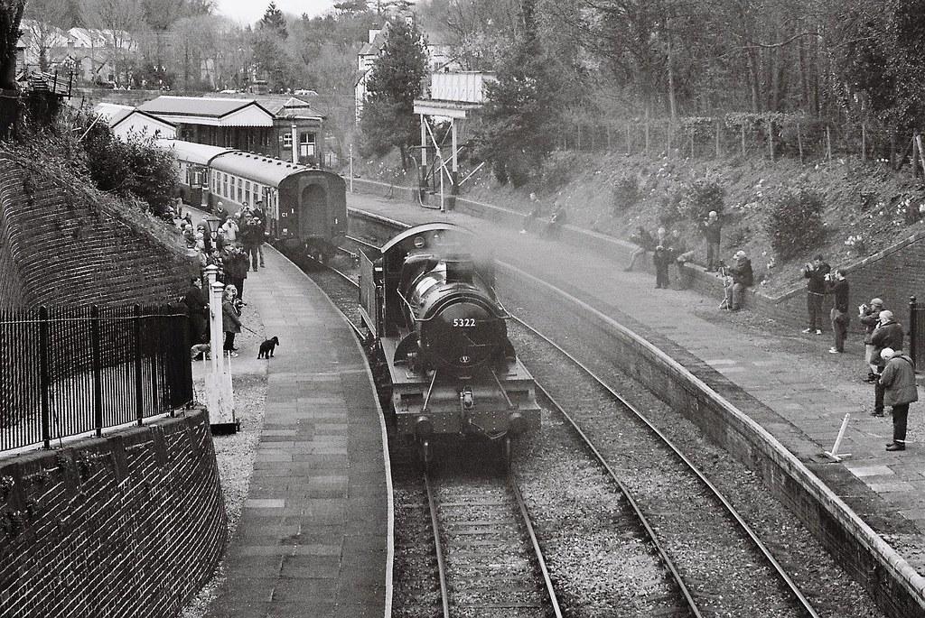 5322, GWR 4300 class Mogul, Llangollen station, 5th April 2014