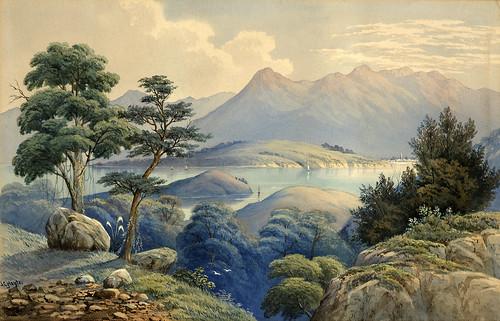 01-Puerto de Akaroa- Hoyte, John Barr Clark, 1870-Museo Te PapaTongareva