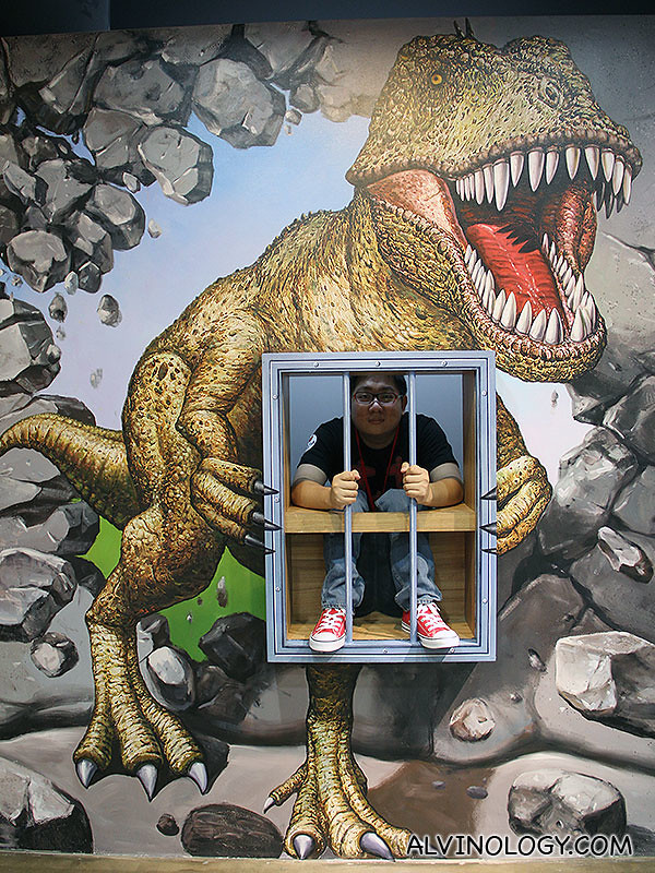 Captured by a T-rex