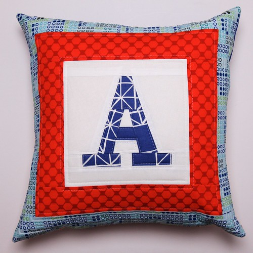Paper Pieced Personalised Pillow