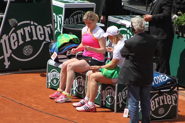 Kim Clijsters and Martina Navratilova