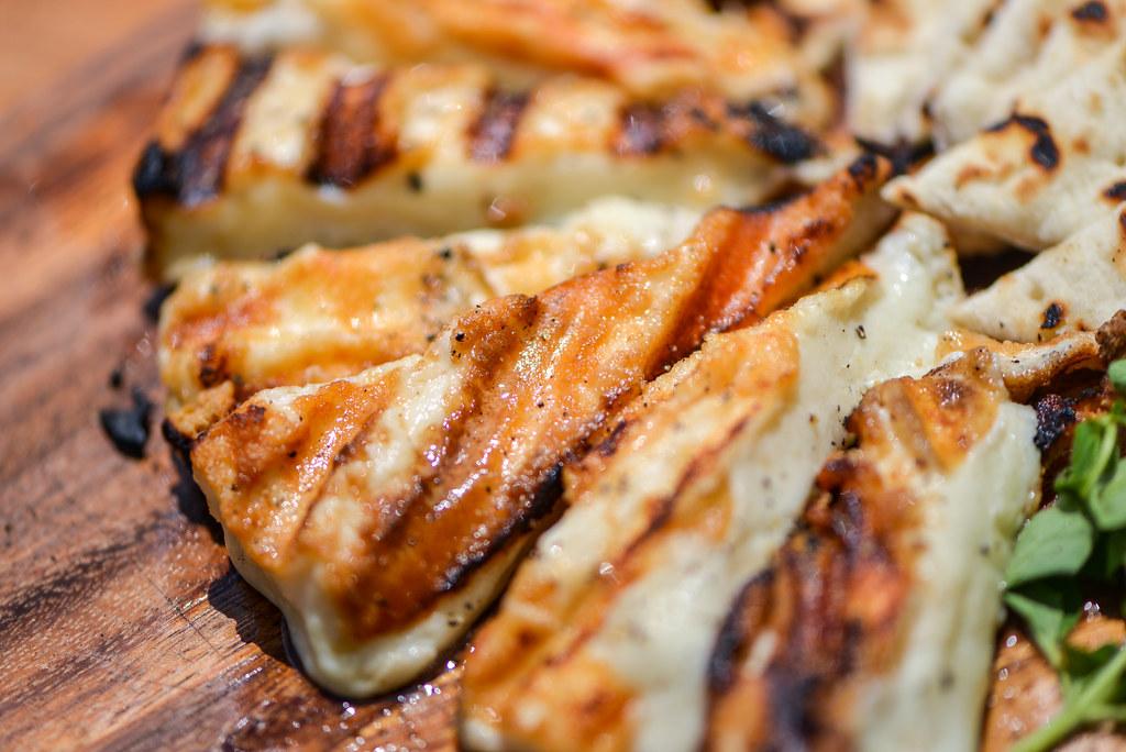 Grilled Kefalotyri Cheese