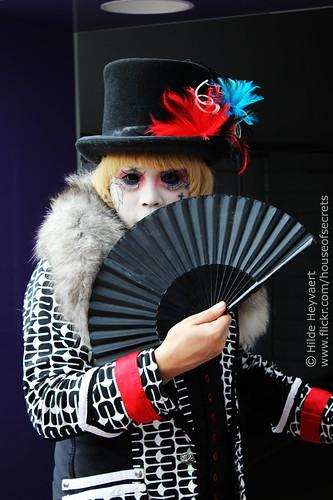 Dancho with my folding fan
