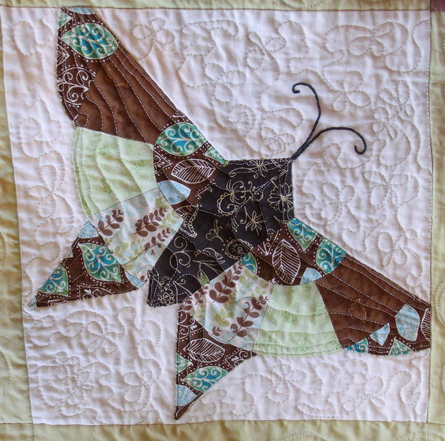 Alice Brooks Butterfly block - quilted