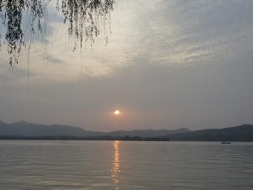 Zhejiang-Hangzhou-Lac Ouest-coucher du soleil 1 (4)