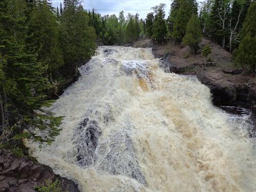 bridge minnesota river waterfall cross falls northshore schroeder highway61
