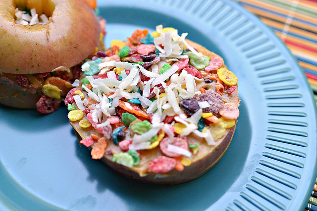 fruity pebbles apple stackers