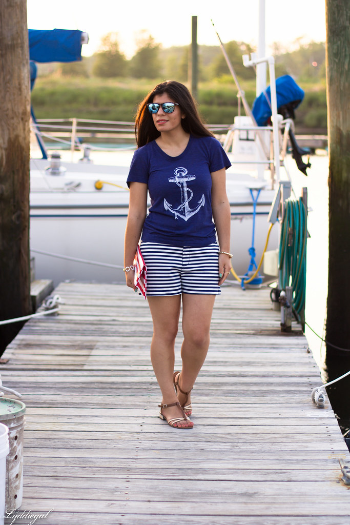 Anchor Tee, Striped Shorts-4.jpg