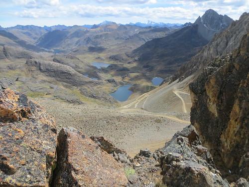 looking down at what I had just climbed, Punta Pumacocha