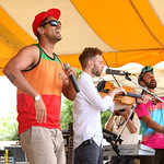 The Vancouver world music combo knocks 'em out on the Rainbow Stage. 6/21/14 Photo by Gus Philippas