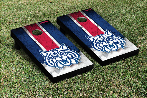 Arizona Wildcats Cornhole Game Set Grunge Version 2