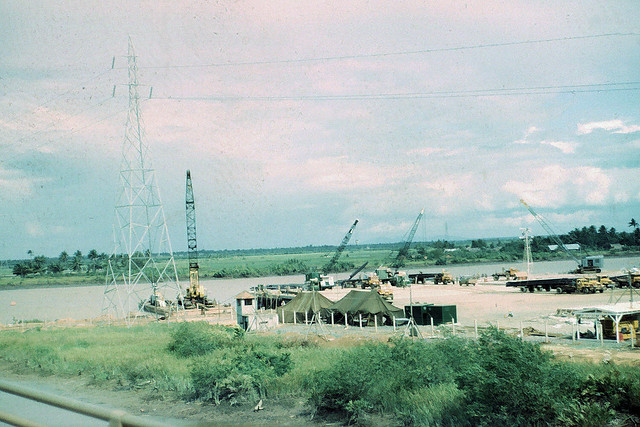 SAIGON 1965-67 - Tân Cảng Saigon khi bắt đầu xây dựng