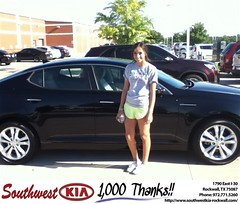 #HappyAnniversary to Ariana Romeo on your 2013 #Kia #Optima from Paula Lovejoy at Southwest KIA Rockwall!