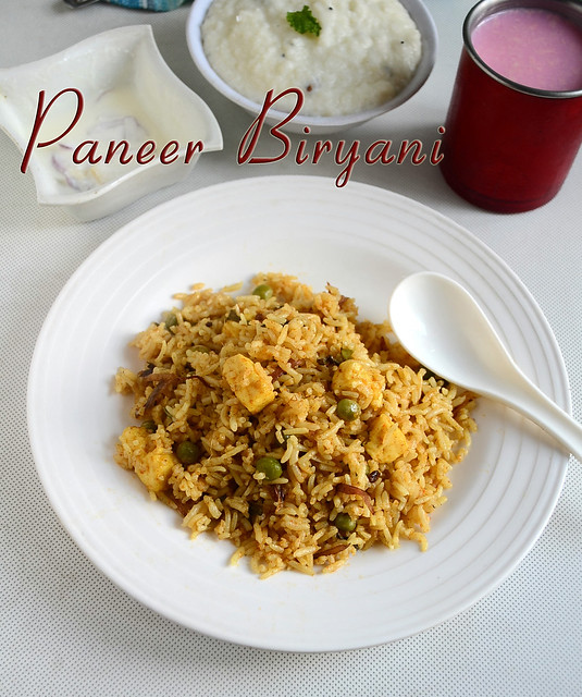 Easy Paneer Biryani Recipe