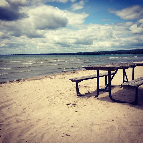 The beach at Presqu'ile Provincial Park
