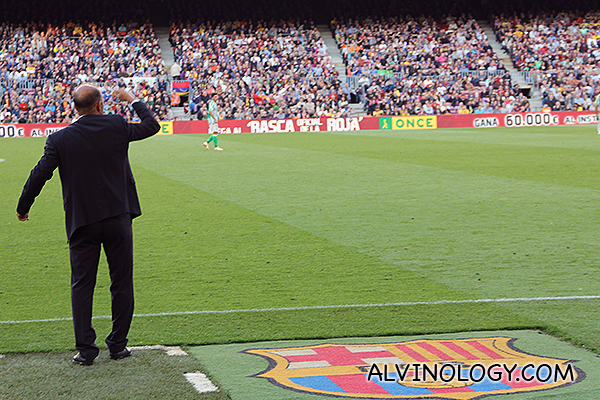 The animated Real Betis manager