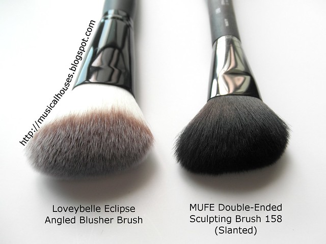 MUEF Brush 158 Blush Loveybelle Comparison 1