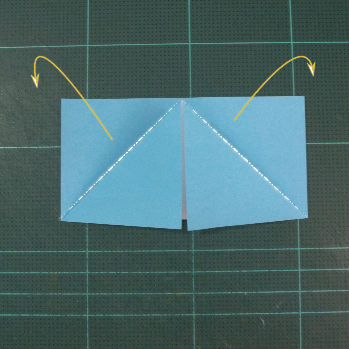 วิธีพับกระดาษเป็นถาดใส่ขนมรูปดาวแปดแฉก (Origami Eight Point Star Candy Tray) 004