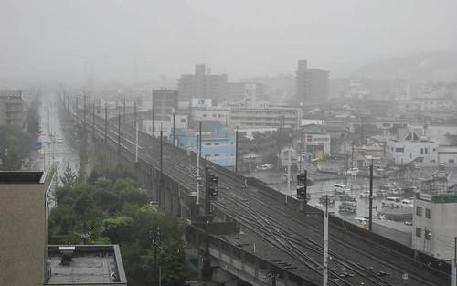 city morning mist station japan misty train view jet august 11th 2009 tottori jetprogramme tottoricity