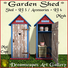 *Garden Shed* Brown - Dreamscapes Art Gallery for *The Collage*