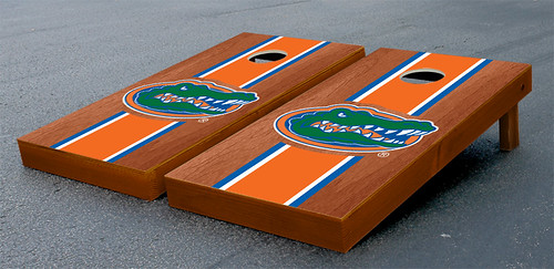 University of Florida Gators UF Cornhole Game Set Stained Striped