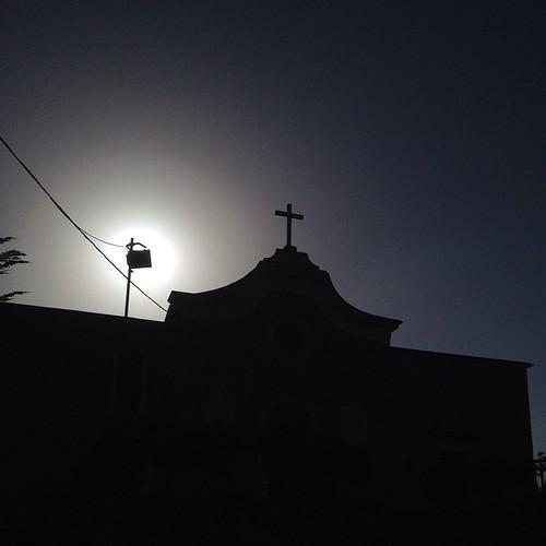 Controluce #rosello #abruzzo #church #italy #iphone4s #summer2014 #sun #shadow #nofilter #sky #holidays