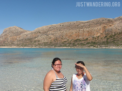 With Cla at Balos Beach