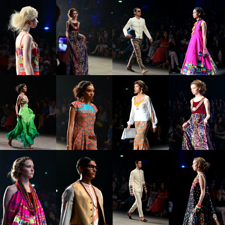 Collage Vibrant Pakistan, Amsterdam Fashion Week 2014