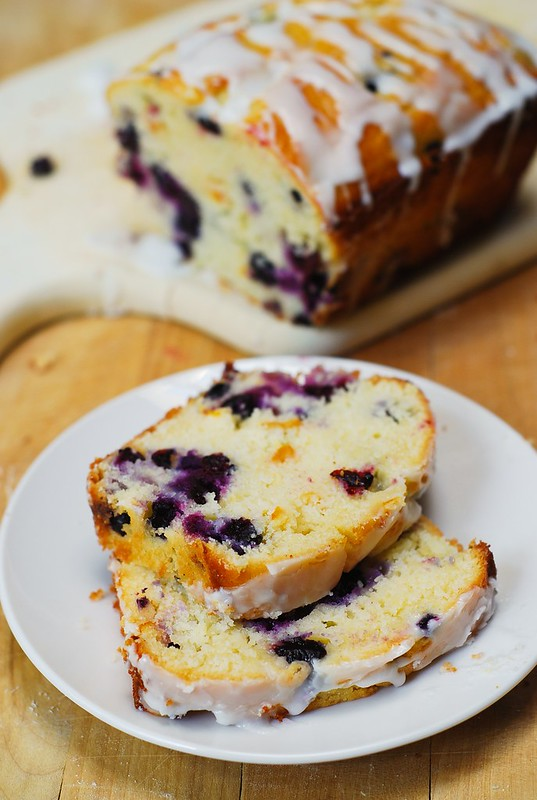 blueberry desserts, blueberry cake with lemon icing, blueberry cake with lemon glaze