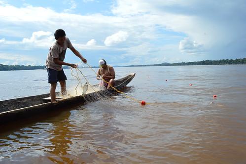 奧里諾科河(南美第三大河)盆地的漁民正在捕魚。(來源:WWF / Denise Oliveira)