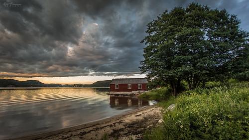 sunset sea sky beach norway clouds landscape scenic shore fjord austagder curtski22 kurtevensen kurtevensenphotography