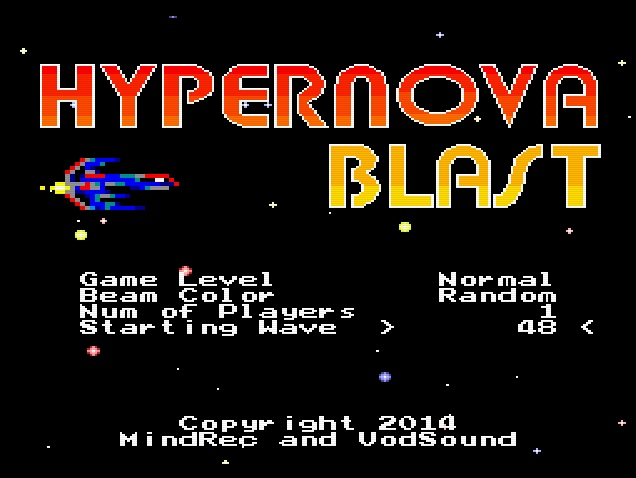 HYPERNOVA BLAST : NEW PC Engine,Turbo Grafx 16 game screenshots