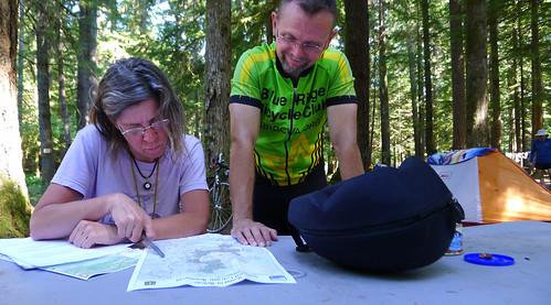 Heather and Greg with maps Washington Cascades_0388 copy