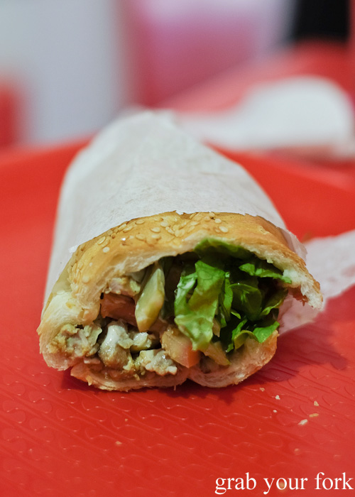 Brain and tongue sandwich at Aria Persian Fast Food, Merrylands