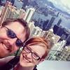 View from the Peak w/ @m_alex_h! #selfie #usie #HongKong #travel
