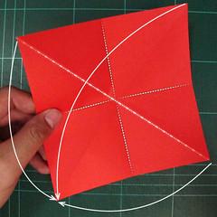 วิธีพับกระดาษเป็นช่อดอกไม้ติดอกเสื้อ (Origami Wedding Chest Flower) 003