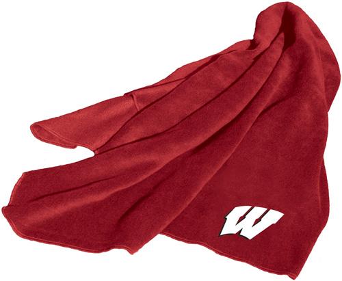 Wisconsin Badgers NCAA Fleece Throw