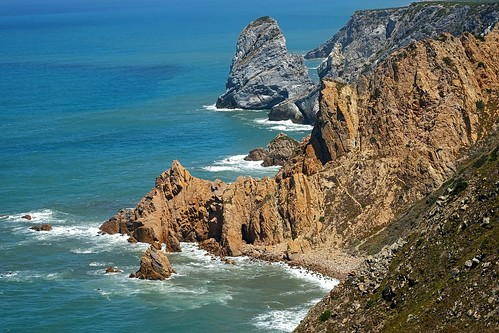 ocean sea sintra portogallo scogliere cabodaroca