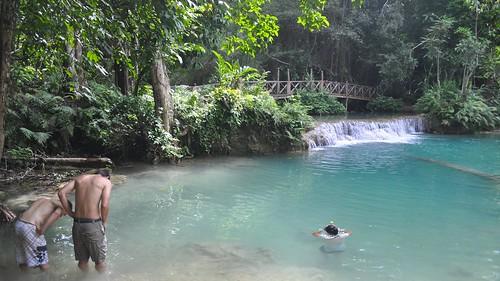 park waterfall nikon laos province luangprabang 2014 kuangsi d5000