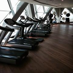 The gym in Rayana Spa of Hyatt Capital Gate #InAbuDhabi