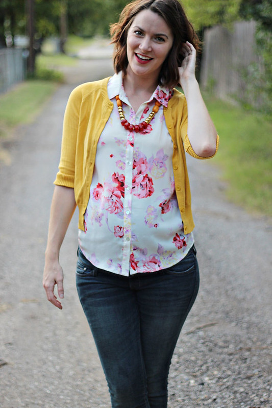 floral-blouse-yellow-sweater-1
