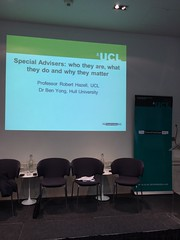 The Special Advisers Book Launch - 11th September at the Institute for Government