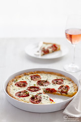 Polenta Tomato Basil Tart (0069)