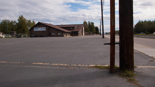 church parking lot, Airport Way, Fairbanks, AK